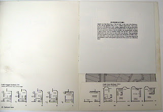 Photo: Inside the brochure. All the illustrations on the inside were inked with a Rapidograph and straight-edged rulers. The type was all set and pasted on boards. I produced this entire brochure in 1985 by hand.