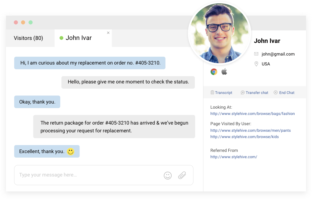 Live chat  window are helpful for reducing help desk call