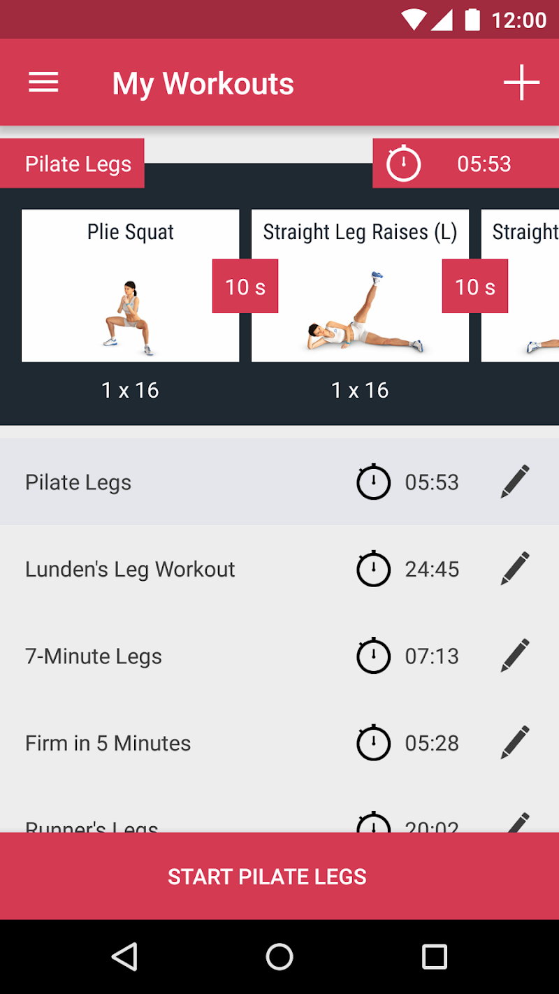 Runtastic Leg Trainer - Workouts & Exercises Screenshot 4