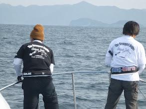 Photo: この二人、イマイチ調子が上がりません。 共通してるのは「恵丸Tシャツ」。・・・コラーッ!