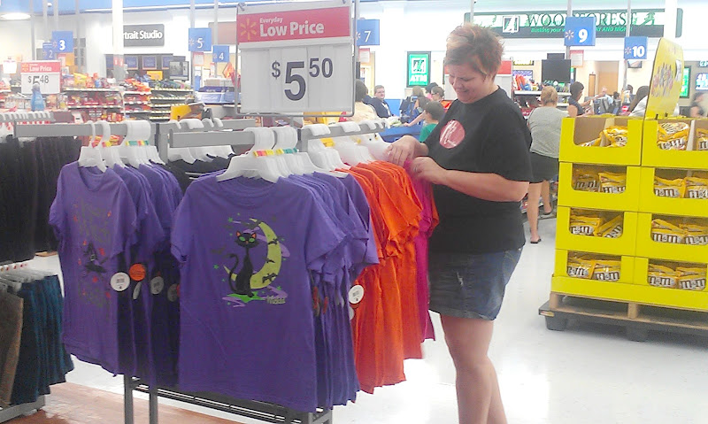 Photo: One of the fun things about losing weight is that you get to shop in the fun seasonal clothing. These new Halloween t-shirts are so cute!