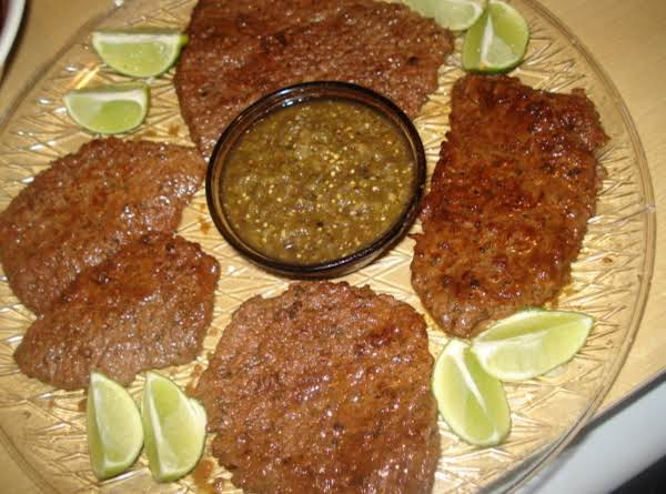 Spicy Lemon Beef Round Bottom Round Steak,  Bistec Picantito Con Limon Recipe
