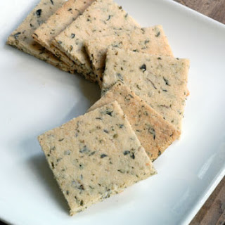 Vegan Herb Crackers.