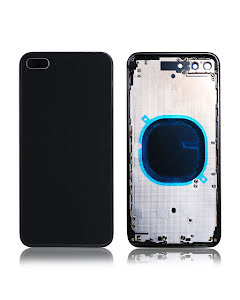 iPhone 8 Plus Back Housing without logo High Quality Black