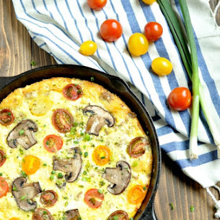 Sausage, White Cheddar and Heirloom Tomato Frittata – Low Carb, Gluten Free
