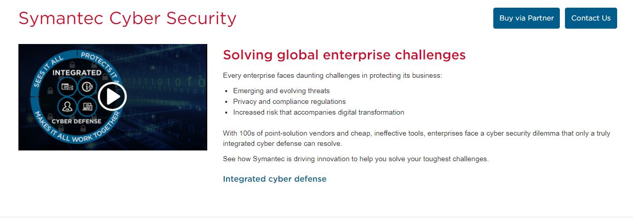 Symantec Cybersecurity Company