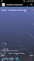Screenshot of Sourate Yassine MP3