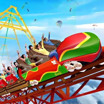 Superhero Sky high Roller Coaster Volcano Rush Hileli APK indir