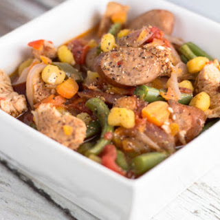 Chicken Stew with Sausage & Hominy