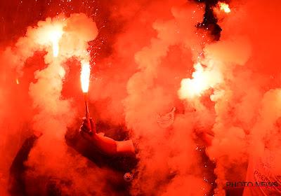📷 🎥 Wel zéér vurig sfeertje in Brugse derby: Club-vlag in lichterlaaie