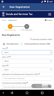 GST Online - Registration, Status Check- screenshot thumbnail