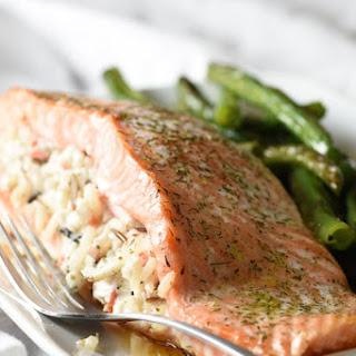 Wild Rice Stuffed Salmon Recipe