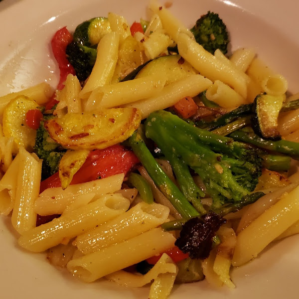 Fire roasted veggie pasta