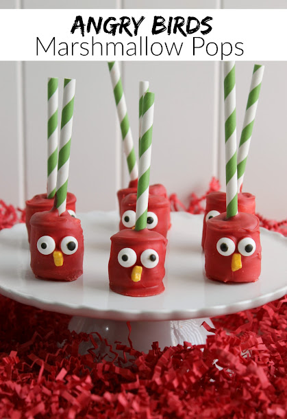 Quick & Easy Red Bird Angry Birds Marshmallow Pops
