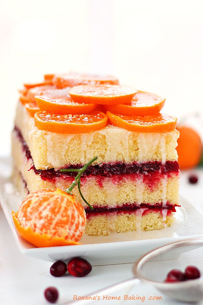 Photo: Citrus cranberry layer cake {recipe} #25recipestoxmas  #christmasbaking  #cake Get the recipe herehttp://www.roxanashomebaking.com/citrus-cranberry-layer-cake-recipe-25recipestoxmas/