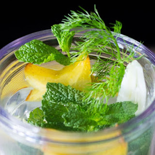 Star Fruit, Fennel, and Mint Infused Water.