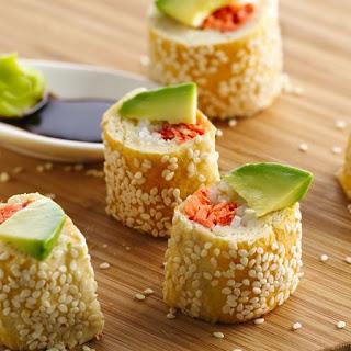 Salmon Crescent Sushi Rolls.