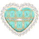 Diamond Hearts & Teal Glitter Keyboard (app)