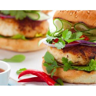 Healthy BBQ Turkey Burger.