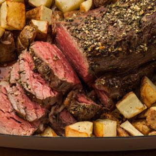 Roasted Herbed Beef Tenderloin.
