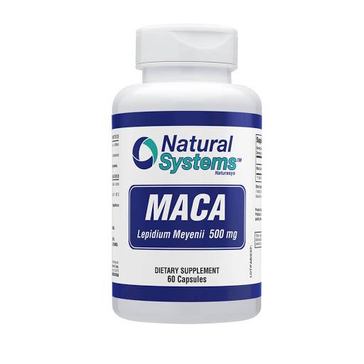 maca 500mg 60capsulas natural system