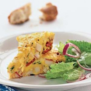 Spanish Omelet With Potatoes and Chorizo.