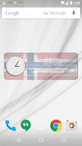Norway Clock RSS Widget