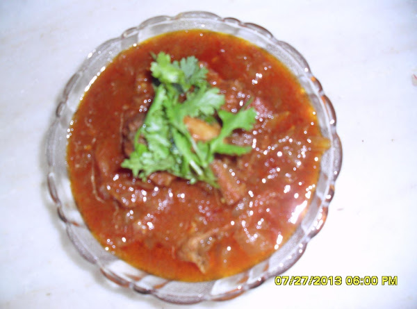 Spicy Yellow Cucumber With Mutton Recipe