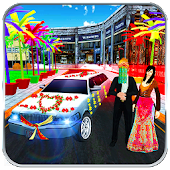 Bridal Limo Car & Wedding Bus 3d