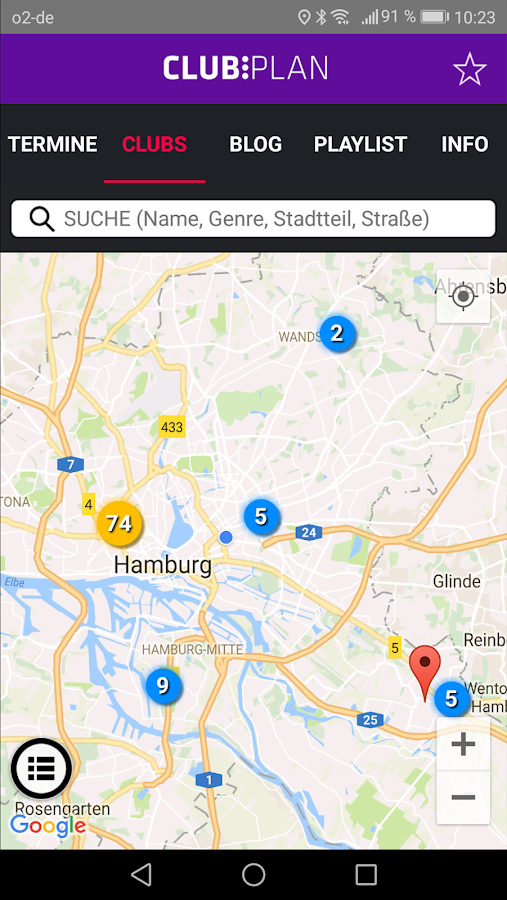 Clubplan - Musik in Hamburg- screenshot
