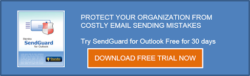 How does SendGuard help prevent internal emails from being sent to external recipients?