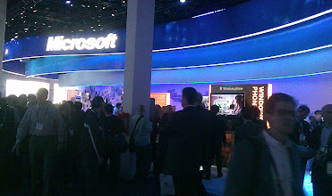 Photo: The Microsoft booth ...