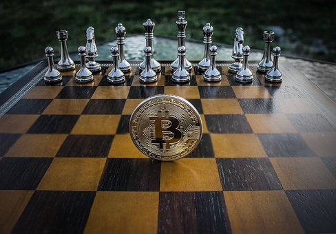 Cryptocurrency, Concept, Chess, Bitcoin