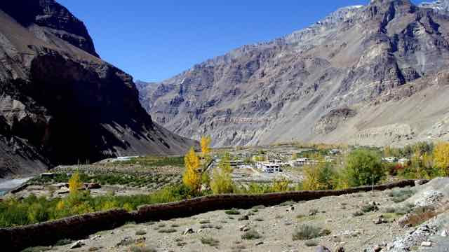 Tabo Village in Autumn