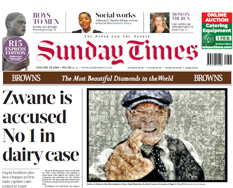 Sunday Times stands by state capture story