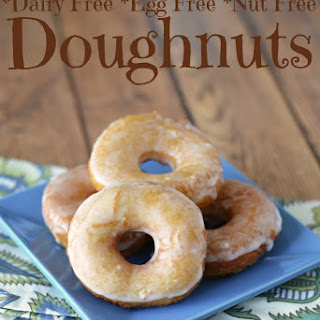 Dairy Free Egg Free Donuts with Sugar Glaze.