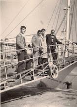 Photo: 1960 u Rijeci S lijeva: Petrić, Puzigača, Kurtović, Rovis Franko