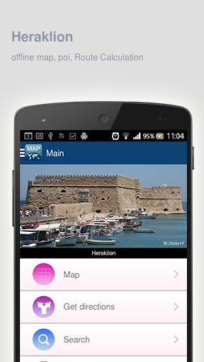 Heraklion Map offline