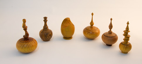 Photo: Clif Poodry - Six Miniature Lidded Boxes [Orange Osage & Bocote]