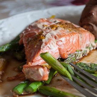Orange Sesame Salmon and Asparagus En Papillote
