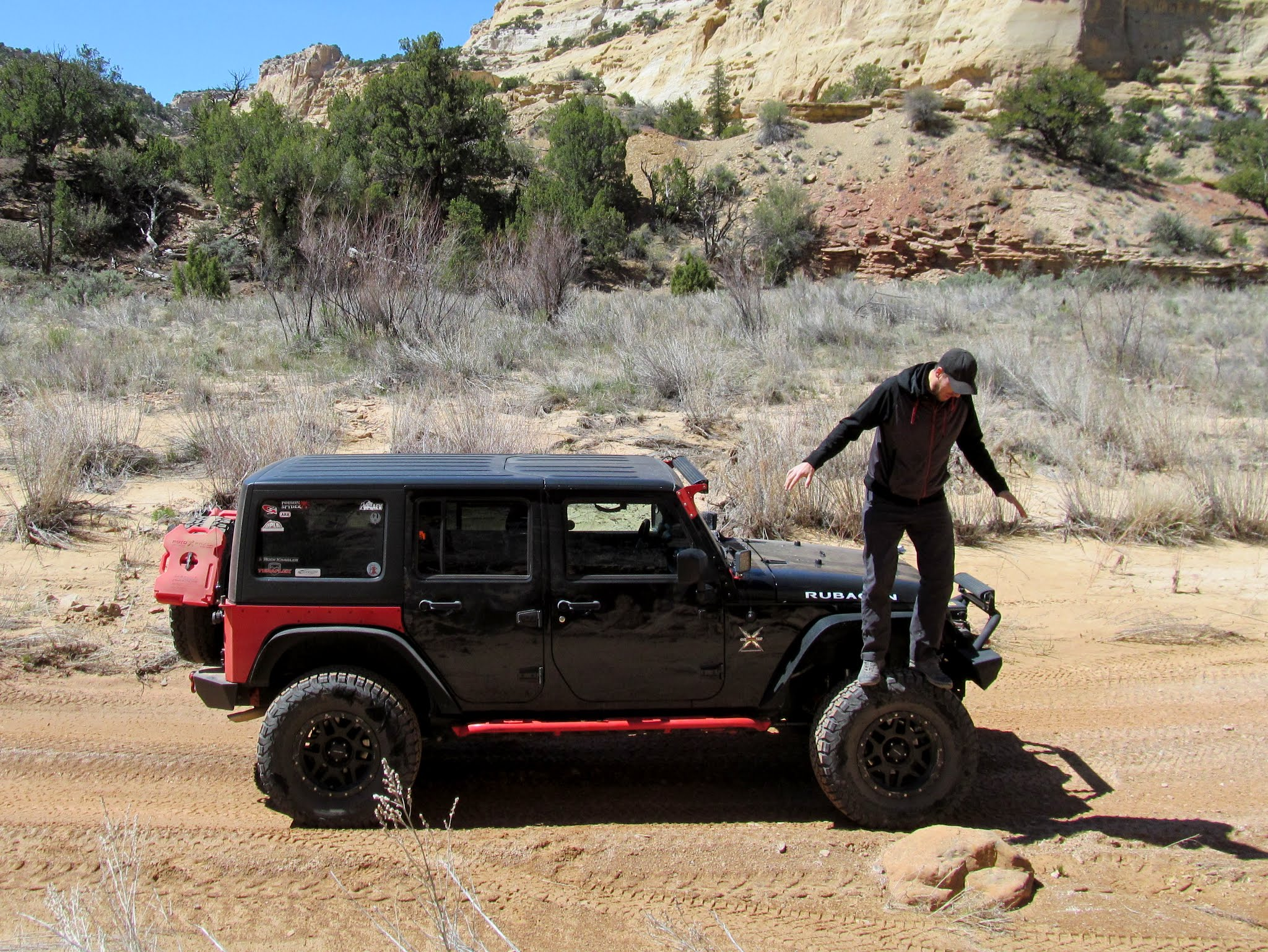 Photo: Chris on Ken's JK