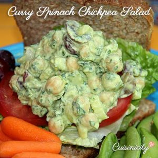Curry Spinach Chickpea Salad.