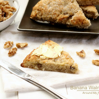 Banana Walnut Scones (Gluten Free & Vegan)