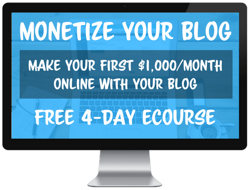 Monetize Your Blog Free eCourse by Create and Go