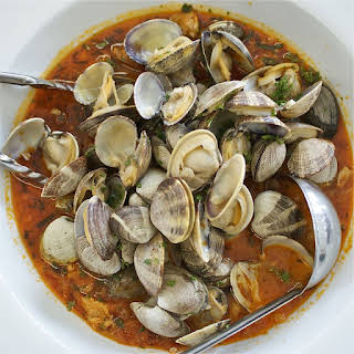 Spicy Steamed Clams.