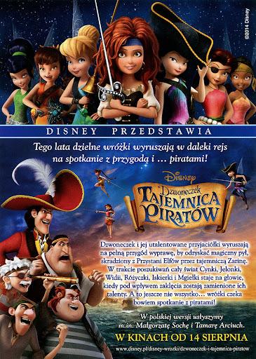 Tył ulotki filmu 'Dzwoneczek i Tajemnica Piratów'