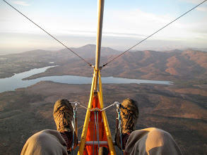 Photo: October 2015, climbing at sunset for a long glide down.  Looking at this picture, I might as well be in one of the airchair gliders, nothing here shows that I am in a motorfloater!