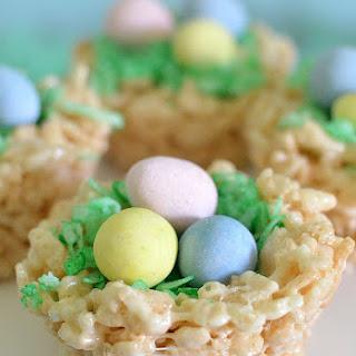 Easter Rice Krispies Treats Nests.