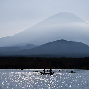 Mt. Fuji by Anna Meliza Tinio - Landscapes Mountains & Hills