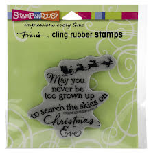 Stampendous Cling Stamp - Christmas Sky